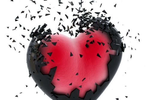 Exploding Heart. Isolated - slon.pics - free stock photos and illustrations