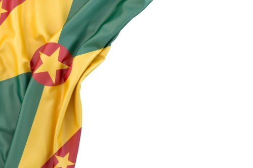 Flag of Grenada in the corner on white background. Isolated, contains clipping path - slon.pics - free stock photos and illustrations