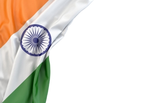 Flag of India the corner on white background. Isolated, contains clipping path - slon.pics - free stock photos and illustrations
