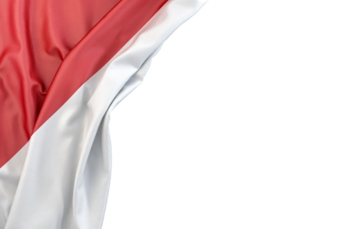 Flag of Indonesia the corner on white background. Isolated, contains clipping path - slon.pics - free stock photos and illustrations