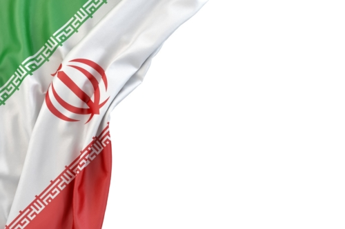Flag of Iran the corner on white background. Isolated, contains clipping path - slon.pics - free stock photos and illustrations