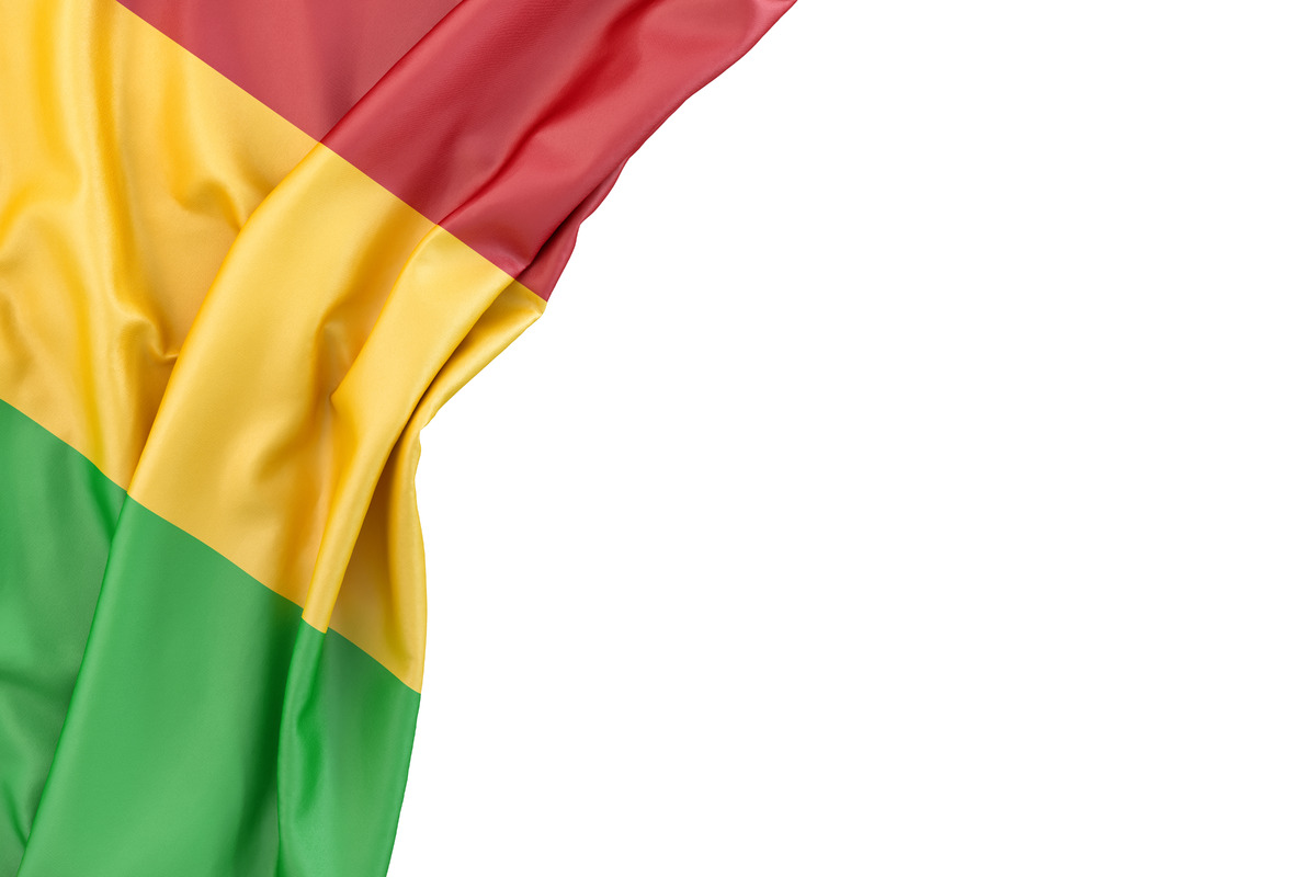 Flag of Mali in the corner on white background. Isolated, contains clipping path - slon.pics - free stock photos and illustrations