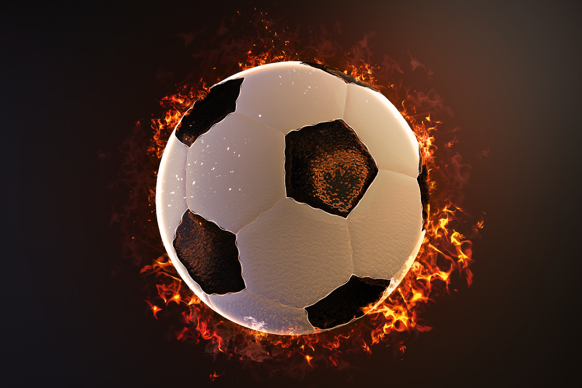 Flaming soccer ball - slon.pics - free stock photos and illustrations