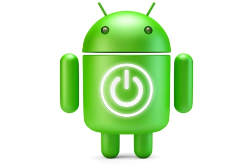 Google Android Robot with Power button. 3D illustration. Isolated. Contains clipping path - slon.pics - free stock photos and illustrations