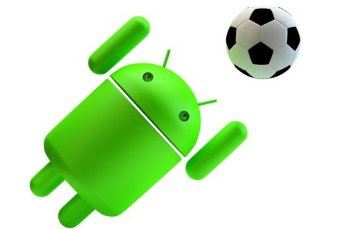 Green Android robot playing soccer. 3D illustration. Isolated. Contains clipping path - slon.pics - free stock photos and illustrations