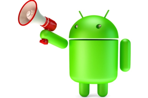 Green Android robot with megaphone. 3D illustration. Isolated. Contains clipping path - slon.pics - free stock photos and illustrations