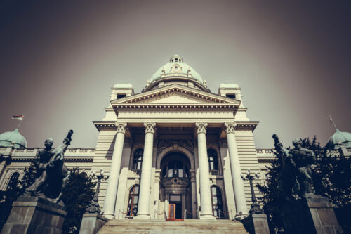 House of the National Assembly. Belgrade, Republic of Serbia - slon.pics - free stock photos and illustrations