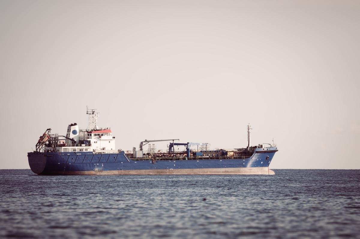 Industrial ship. Mediterranean sea - slon.pics - free stock photos and illustrations