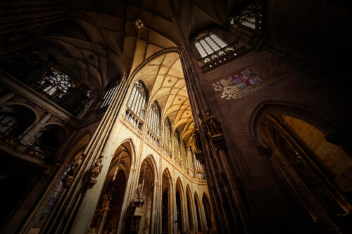 Interior of Saint Vitus Cathedral. Prague, Czech Republic - slon.pics - free stock photos and illustrations