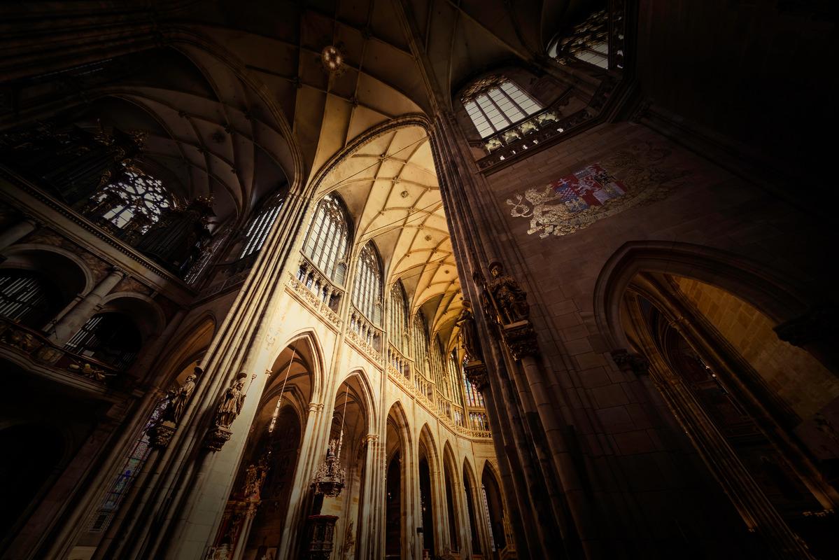 Interior of Saint Vitus Cathedral. Prague, Czech Republic - slon.pics - free stock photos and illustrations