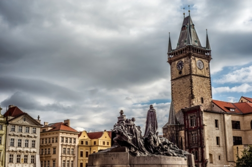 Jan Hus Munument at the Old Town Square. Prague, Czech Republic - slon.pics - free stock photos and illustrations