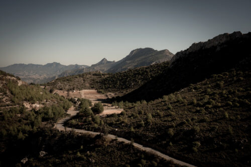 Kyrenia Mountain Range and road to St Hilarion Castle. Kyrenia District, Cyprus - slon.pics - free stock photos and illustrations