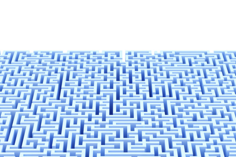 Maze background with copyspace. Isolated. Contains clipping path - slon.pics - free stock photos and illustrations