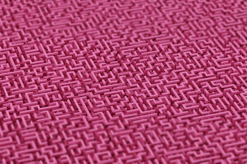 Maze background. 3D illustration - slon.pics - free stock photos and illustrations