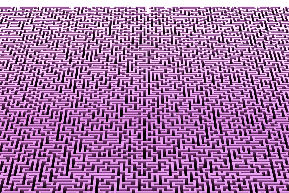 Maze. Abstract background. Contains clipping path - slon.pics - free stock photos and illustrations