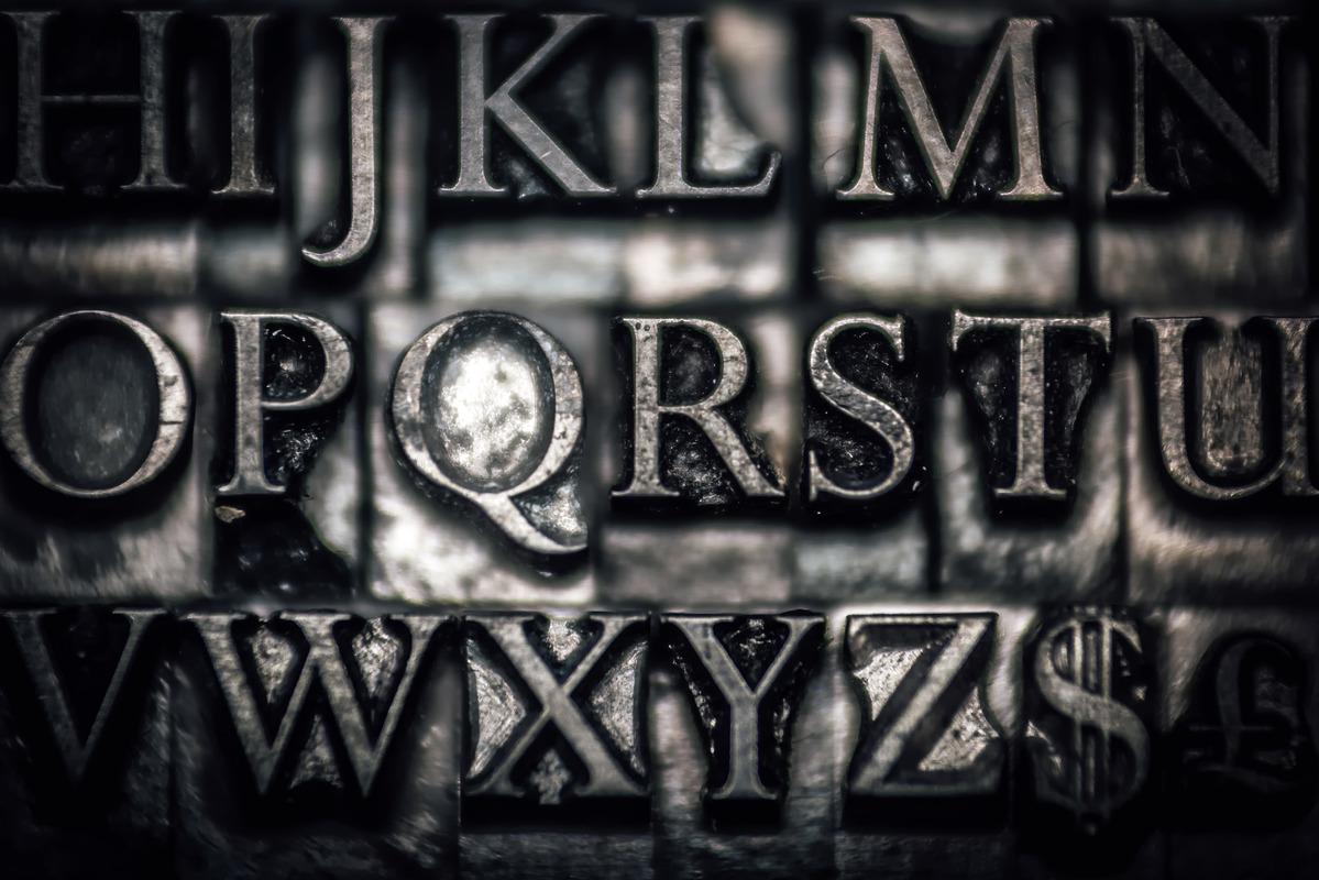 Metallic letterpress blocks - slon.pics - free stock photos and illustrations