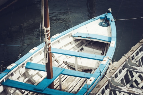 Old Fishing boat from above - slon.pics - free stock photos and illustrations