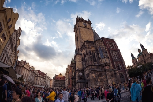 Old Town Hall in Old Town Square. Prague, Czech Republic. September 05, 2016 - slon.pics - free stock photos and illustrations