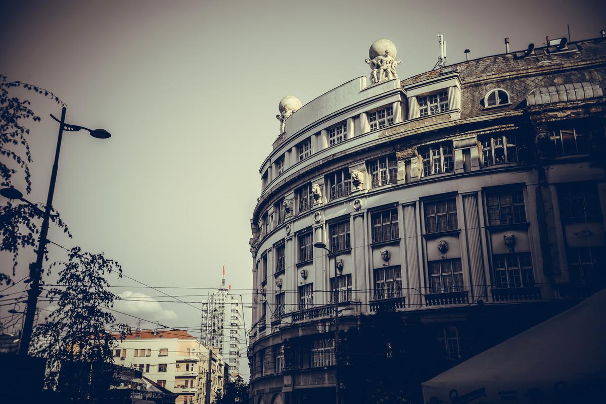 Old public buildings at the republic square (Trg Republike). Belgrade, Republic of Serbia - slon.pics - free stock photos and illustrations