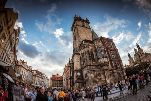 People in front of the Old Town Hall. September 05, 2016 - slon.pics - free stock photos and illustrations