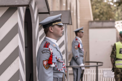 Presidential Castle Guards in front of Prague Castle. Czech Republic. September 04, 2016 - slon.pics - free stock photos and illustrations