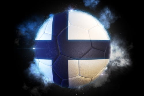 Soccer ball textured with flag of Finland - slon.pics - free stock photos and illustrations