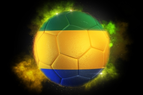 Soccer ball textured with flag of Gabon - slon.pics - free stock photos and illustrations