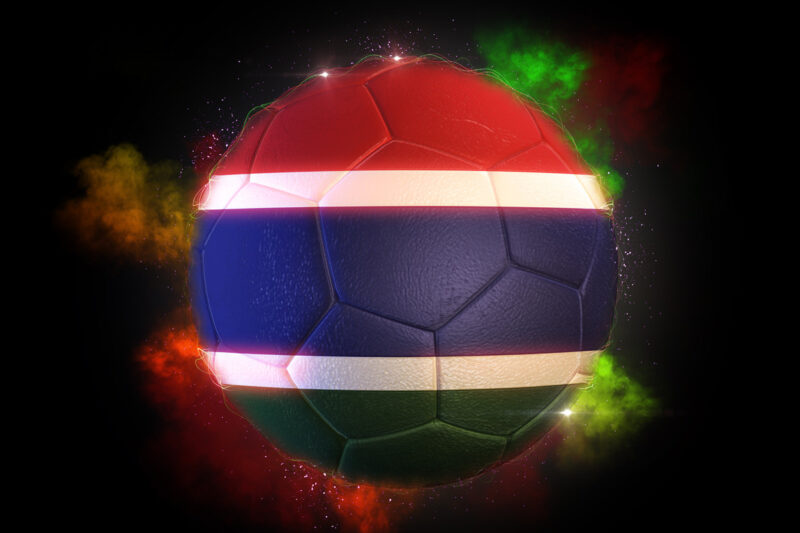 Soccer ball textured with flag of Gambia - slon.pics - free stock photos and illustrations