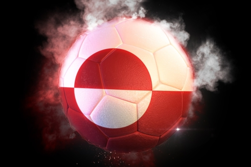 Soccer ball textured with flag of Greenland - slon.pics - free stock photos and illustrations