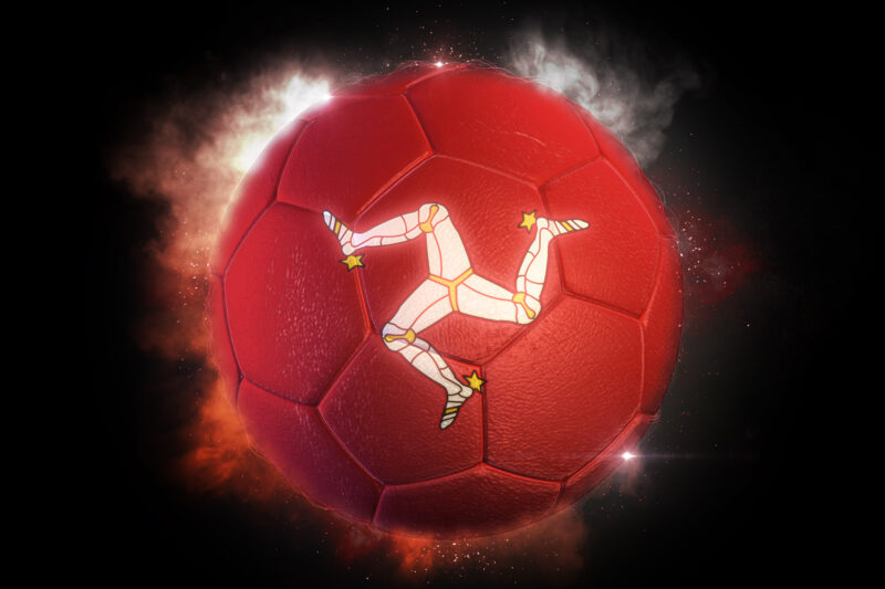 Soccer ball textured with flag of Isle of Man - slon.pics - free stock photos and illustrations