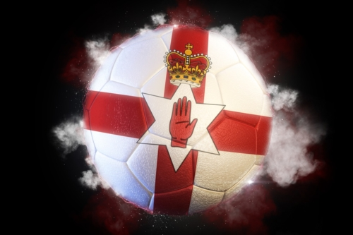 Soccer ball textured with flag of Northern Ireland - slon.pics - free stock photos and illustrations