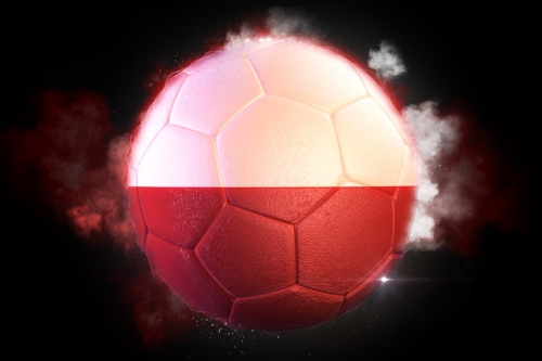 Soccer ball textured with flag of Poland - slon.pics - free stock photos and illustrations