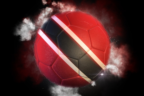 Soccer ball textured with flag of Trinidad and Tobago - slon.pics - free stock photos and illustrations