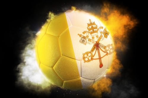 Soccer ball textured with flag of Vatican - slon.pics - free stock photos and illustrations