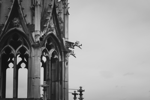 Spire of St. Vitus Cathedral. Prague, Czech Republic - slon.pics - free stock photos and illustrations