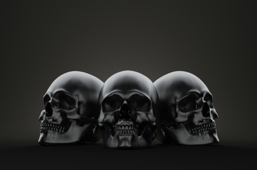 Spooky Skulls. 3D illustration. Contains clipping path - slon.pics - free stock photos and illustrations
