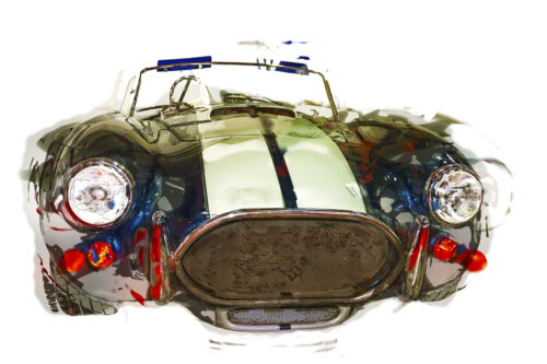 Sportive vintage cabriolet. Isolated. Digital Illustration - slon.pics - free stock photos and illustrations