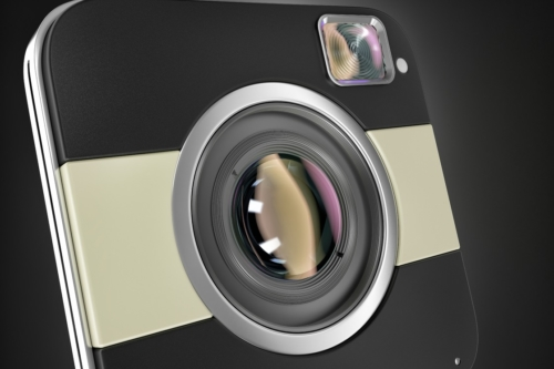 Squared digital camea. 3D illustration - slon.pics - free stock photos and illustrations