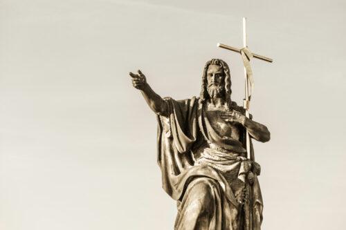 St. John the Baptist Statue on Charles Bridge. Prague, Czech Republic - slon.pics - free stock photos and illustrations