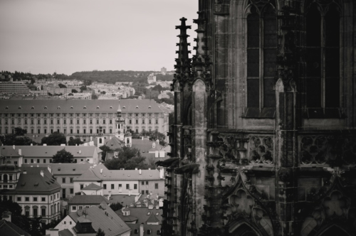St. Vitus Cathedral and Old Town Cityscape. Prague, Czech Republic - slon.pics - free stock photos and illustrations