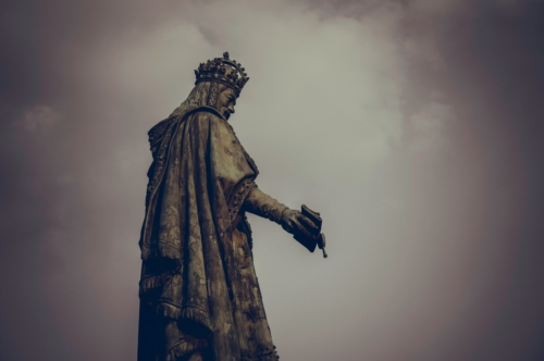 Statue of Charles IV at the square of the Knights of the Cross (Krizovnicke namesti). Prague, Czech Republic - slon.pics - free stock photos and illustrations