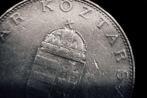 Ten Hungarian Forint coin. Macro - slon.pics - free stock photos and illustrations