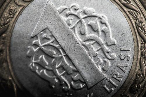 Turkish lira coin close-up - slon.pics - free stock photos and illustrations