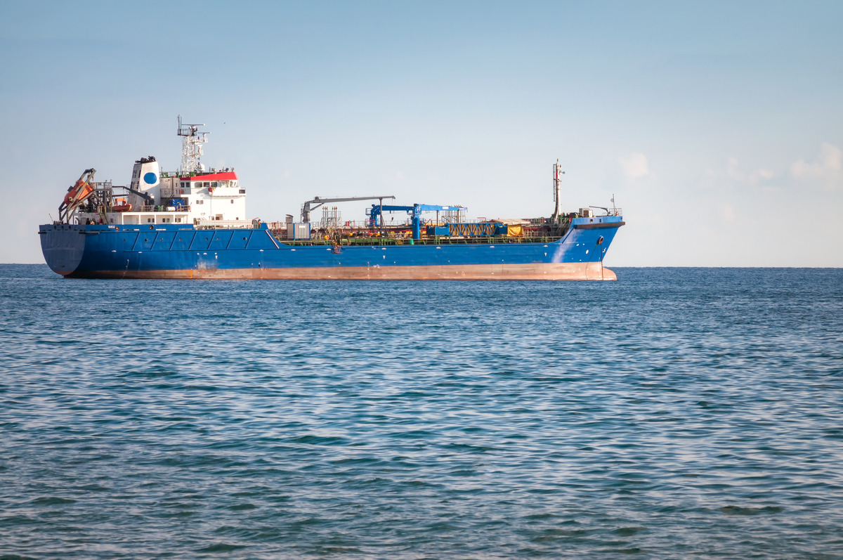 Unknown Industrial ship. Mediterranean sea - slon.pics - free stock photos and illustrations