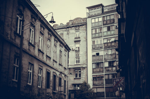 Urban cityscape of old Belgrade. Republic of Serbia - slon.pics - free stock photos and illustrations