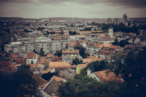 View across Zemun to Belgrade. Serbia - slon.pics - free stock photos and illustrations