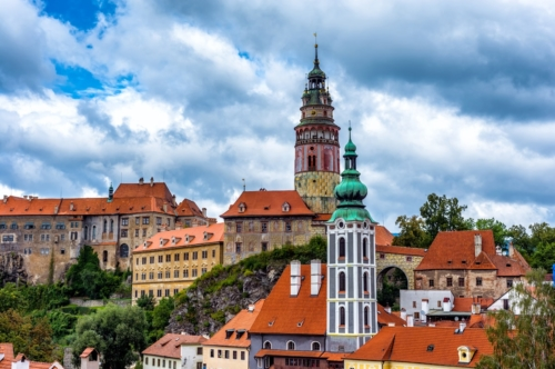 View of Cesky Krumlov town and castle. Czech Republic - slon.pics - free stock photos and illustrations