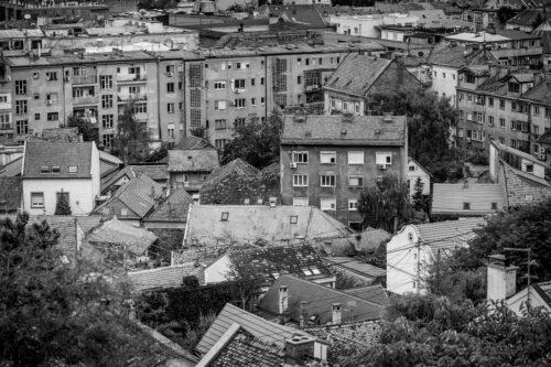 View of Zemun rooftops. Belgrade. Republic of Serbia - slon.pics - free stock photos and illustrations