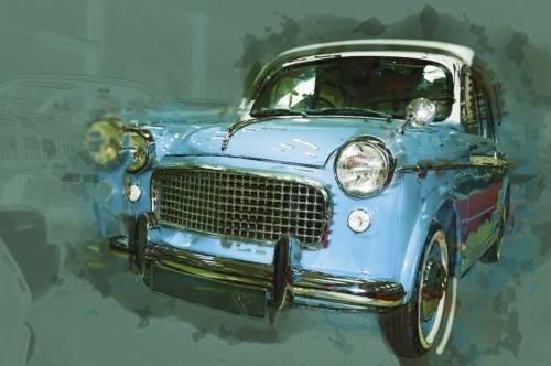 Vintage car drawn illustration. Digital Illustration - slon.pics - free stock photos and illustrations