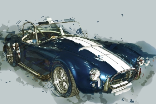 Vintage sport car. Digital Illustration - slon.pics - free stock photos and illustrations